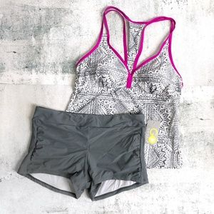 Go by Gossip | Optical Fantasy Tankini & Boyshorts